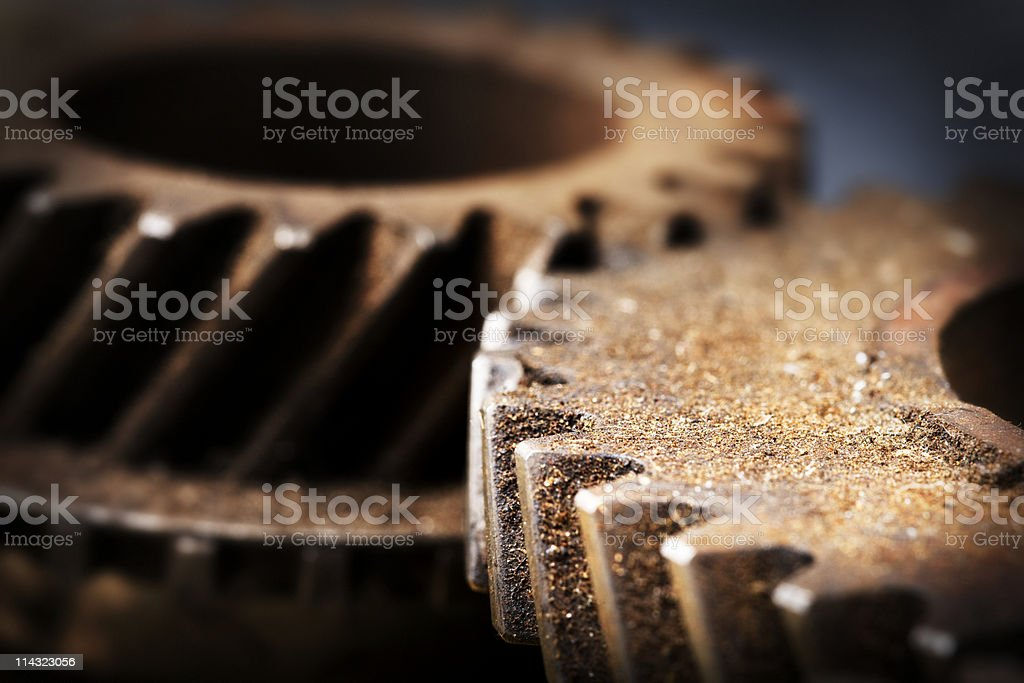 Rusty old gears royalty-free stock photo
