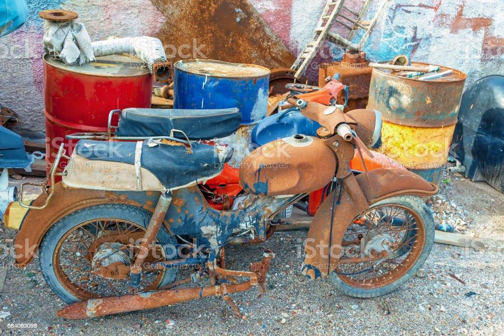 Rusty Old Motorbikes stock photo