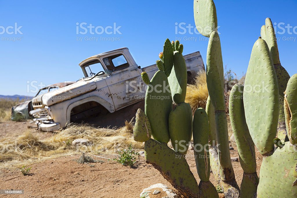 Rusty old pick-up truck royalty-free stock photo