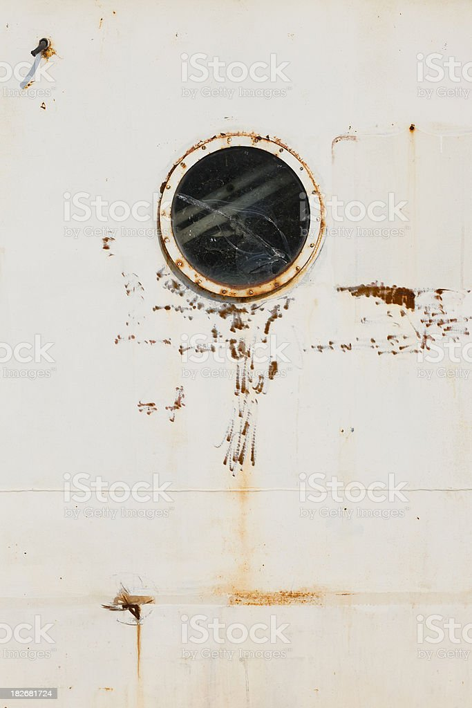 Rusty Old Porthole royalty-free stock photo