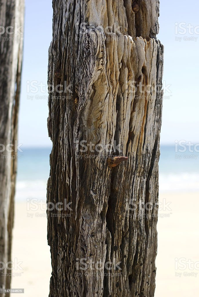 Rusty old pylons Port Willunga South Australia royalty-free stock photo