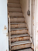 Rusty old staircase