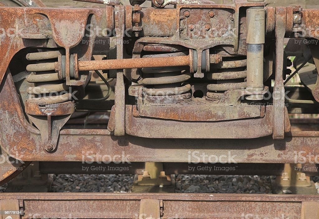 Rusty Old Steam Train Detail stock photo