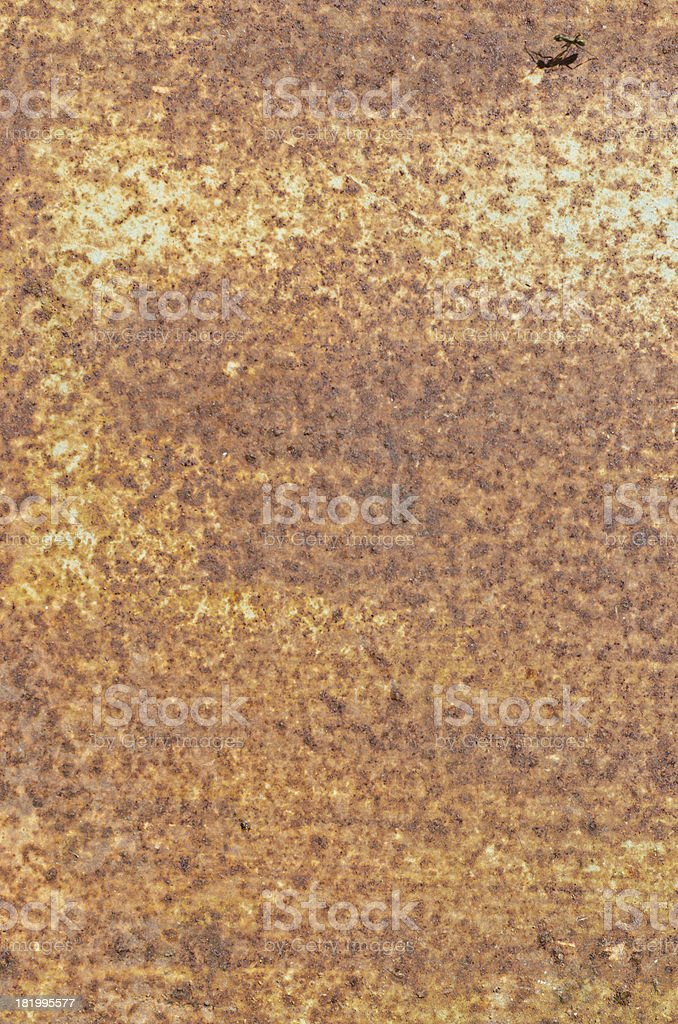 Rusty old steel plate closeup royalty-free stock photo