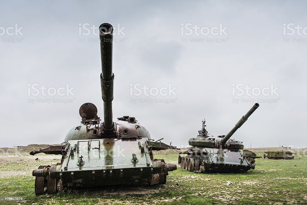 Rusty old tanks/Afghanistan royalty-free stock photo