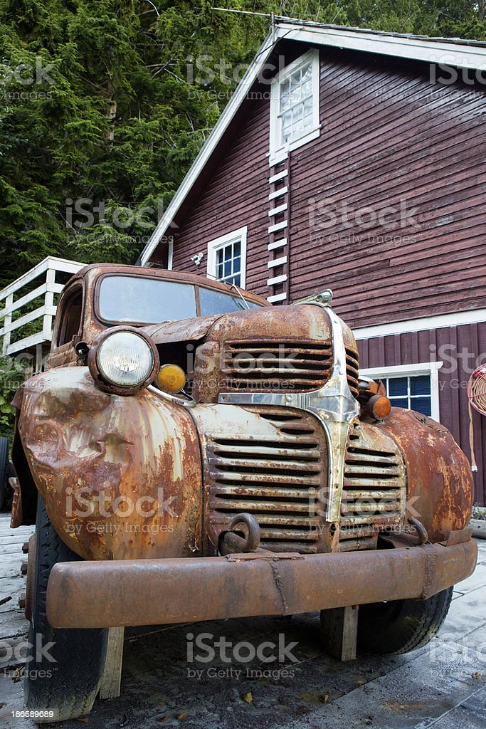 Rusty old truck royalty-free stock photo