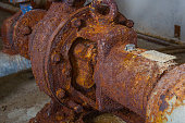 Rusty old water pump