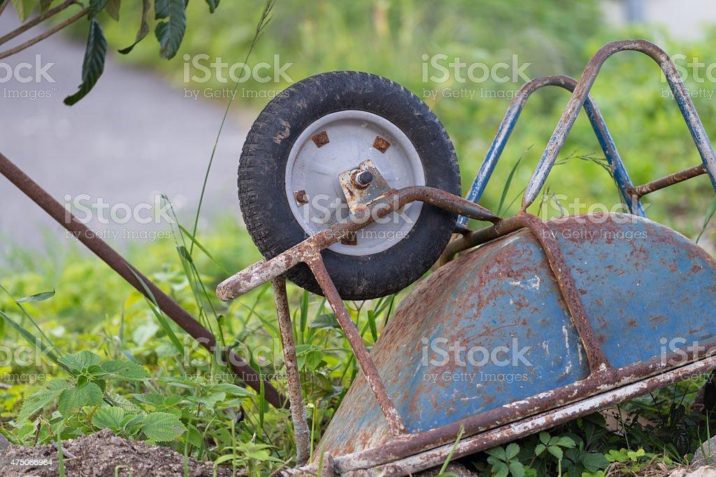 Rusty Old Wheelbarrow stock photo