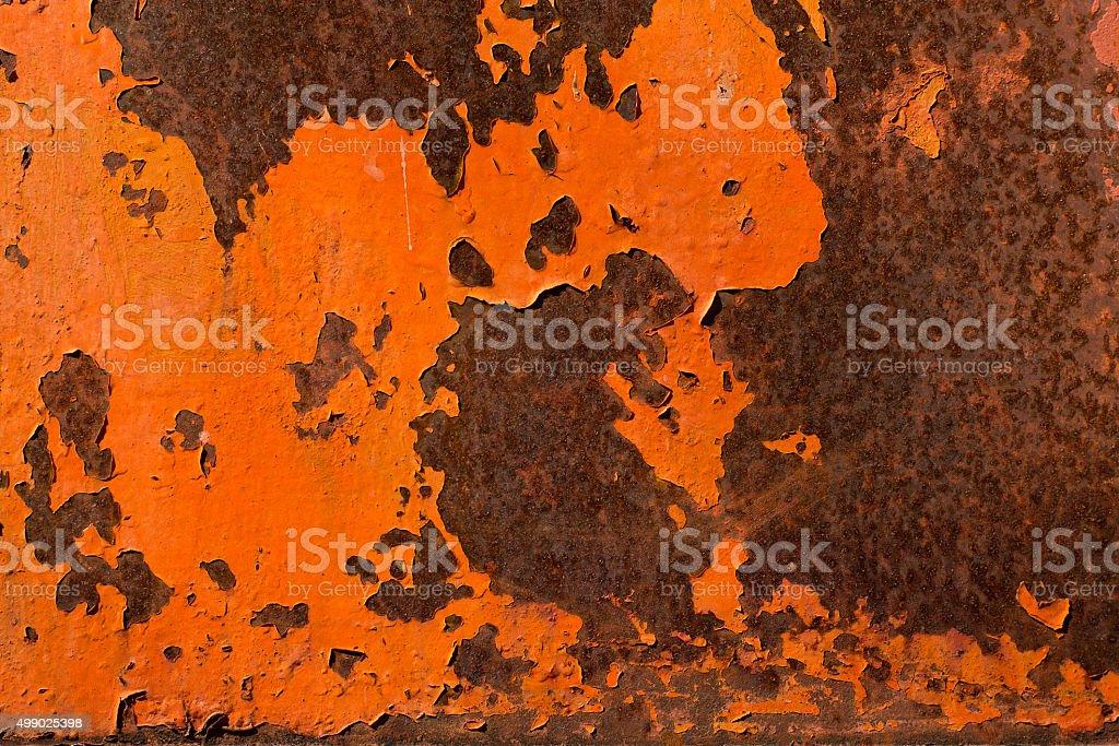 rusty on iron stock photo