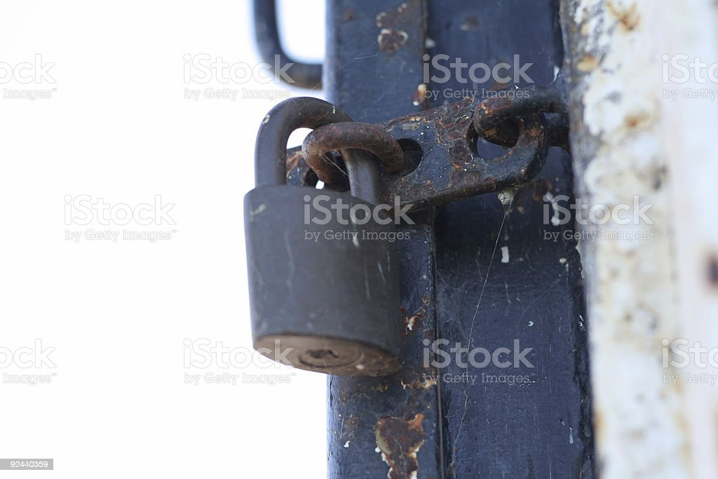 Rusty Padlock stock photo