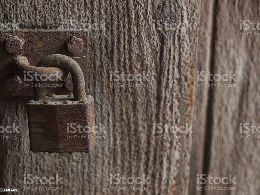 Rusty Padlock royalty-free stock photo