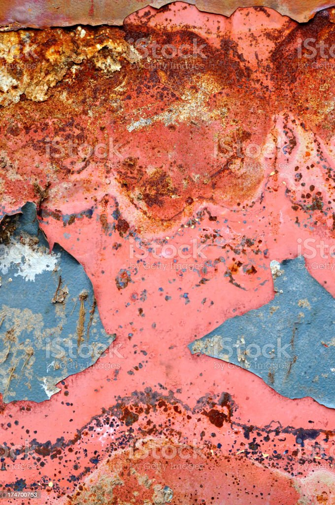 Rusty paint royalty-free stock photo