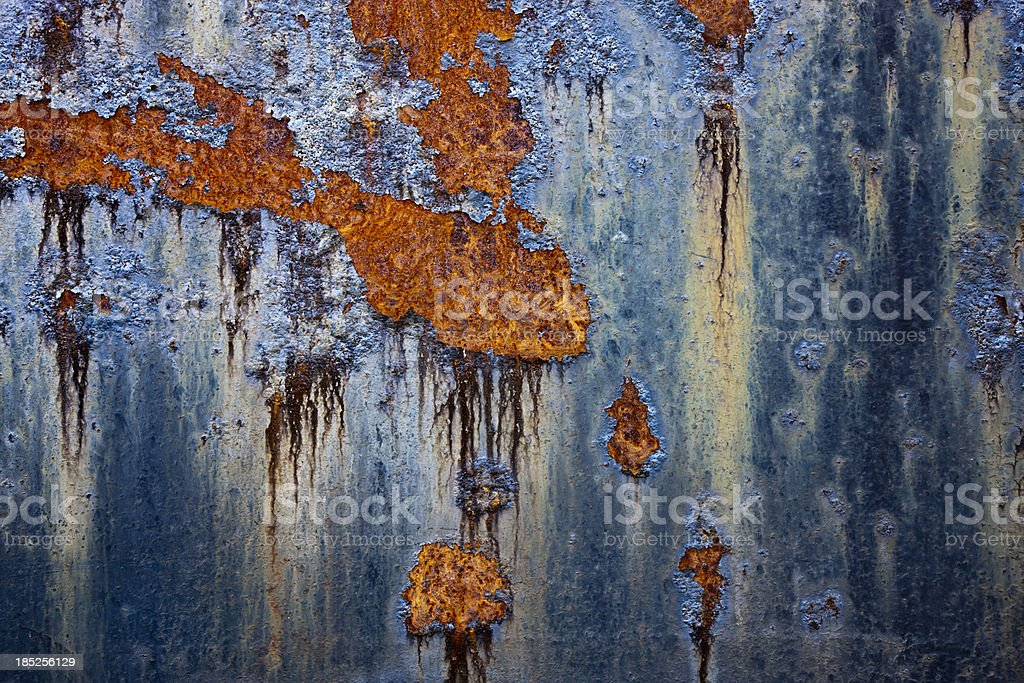 Rusty Painted Metal Background royalty-free stock photo
