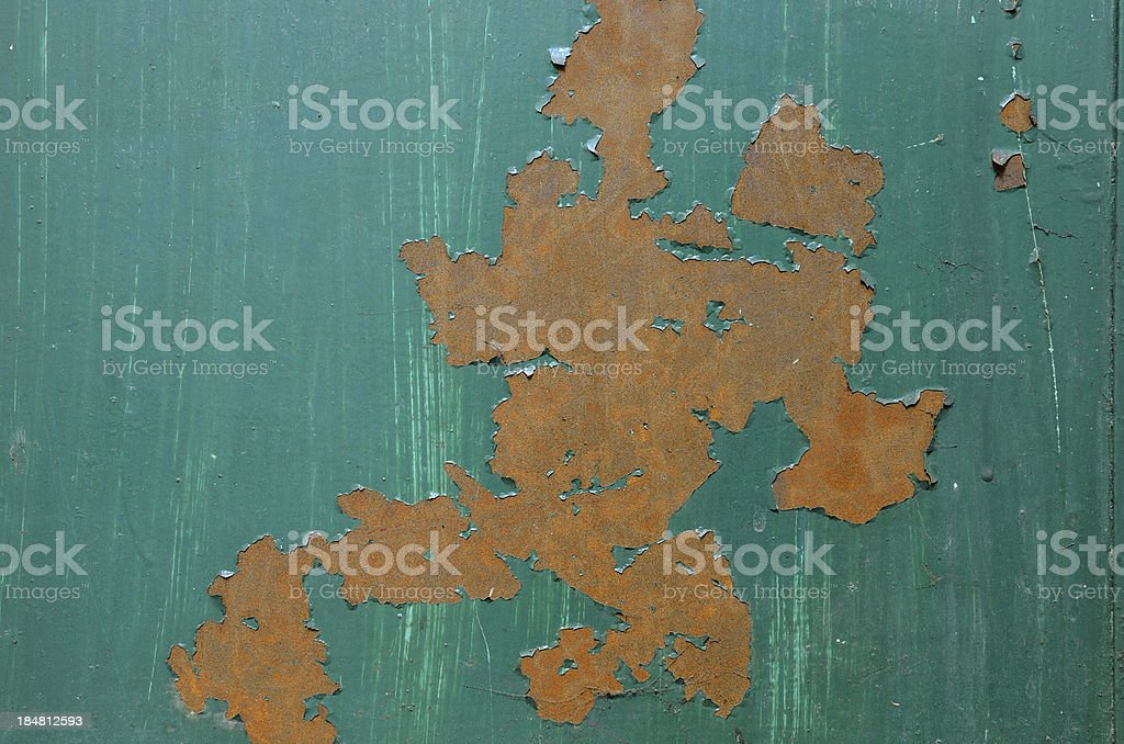 Rusty painted metal surface royalty-free stock photo