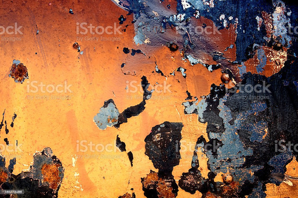 Rusty Painted Metal XXXL Background royalty-free stock photo
