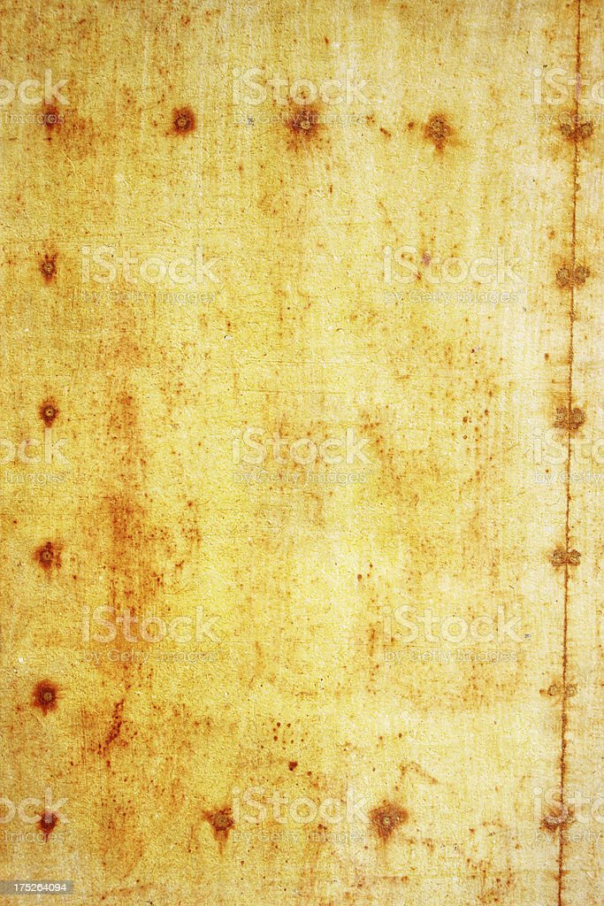 Rusty paper royalty-free stock photo