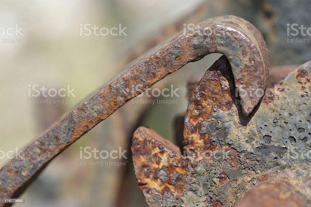 Rusty pawl stock photo