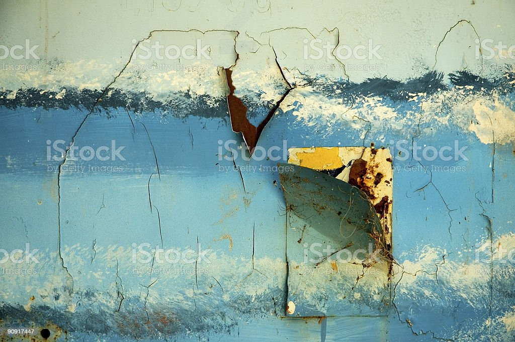 Rusty Peeling Paint royalty-free stock photo
