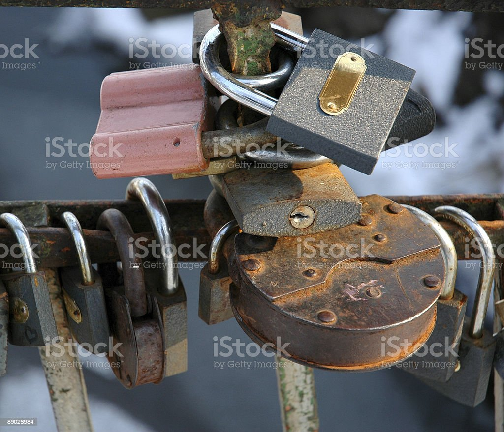 Rusty, Pink and Others royalty-free stock photo