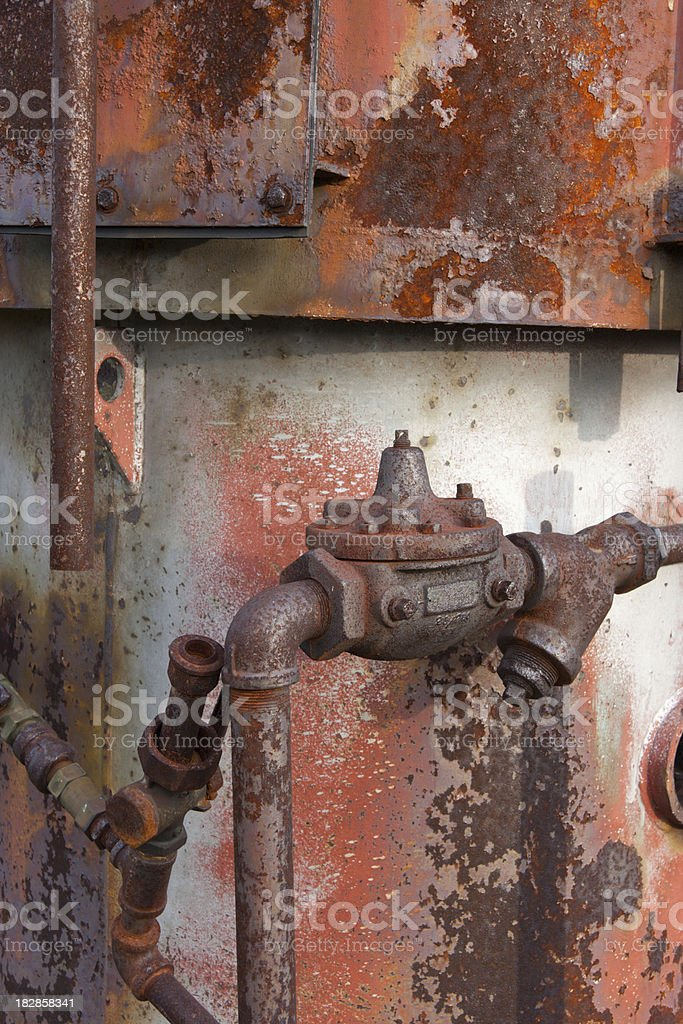 Rusty Pipes and Equipment royalty-free stock photo