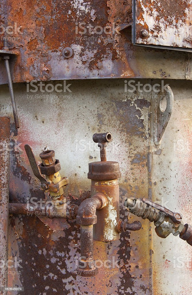 Rusty Pipes and Valves royalty-free stock photo