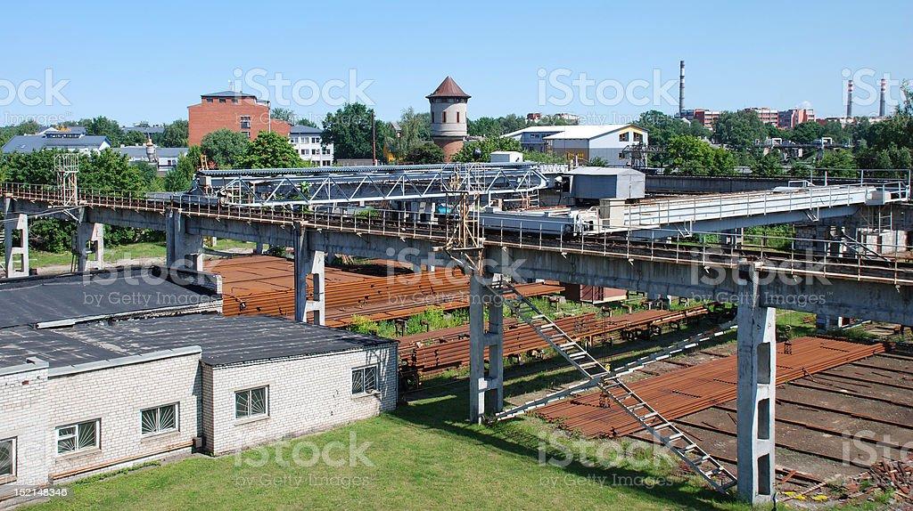 Rusty rails royalty-free stock photo