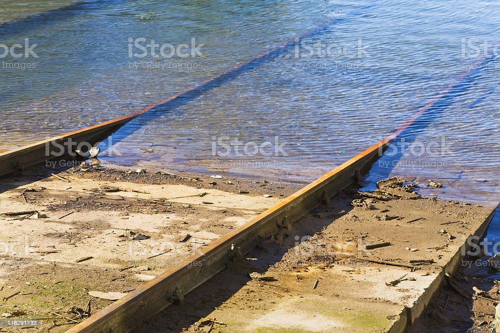 rusty railway royalty-free stock photo