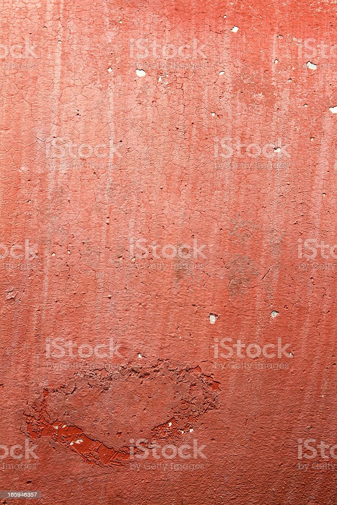 Rusty red grunge background with stains and leaks royalty-free stock photo