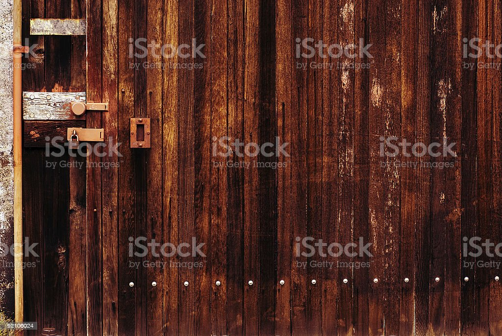 Rusty Red Tattered Wall royalty-free stock photo
