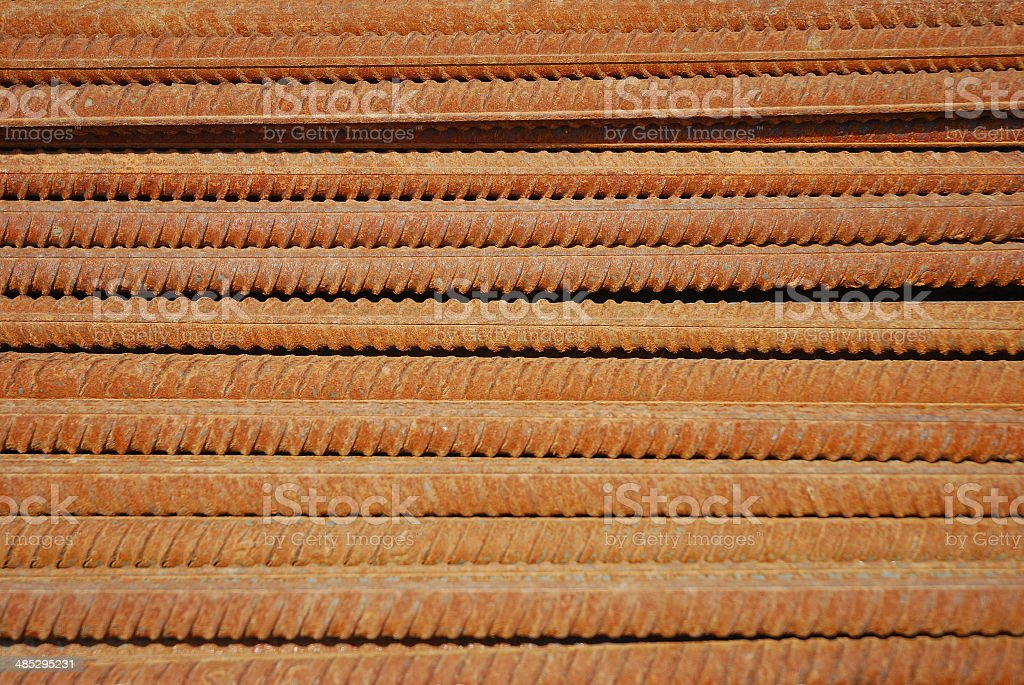 Rusty reinforcement royalty-free stock photo