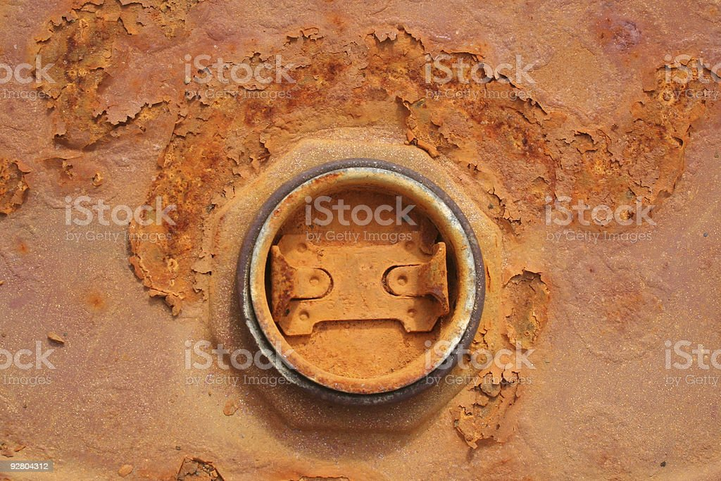 Rusty ring stock photo