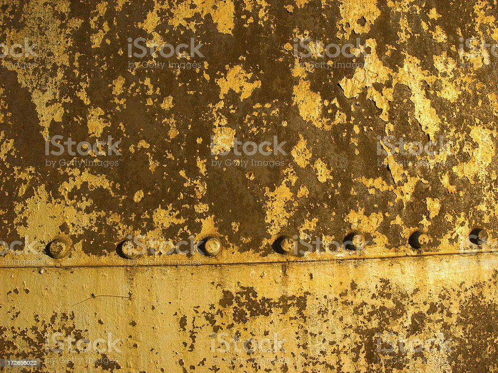 Rusty Rivets Grunge Two royalty-free stock photo