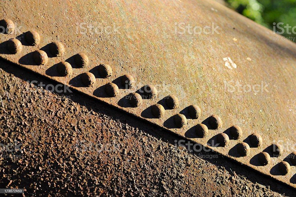 rusty rivets stock photo
