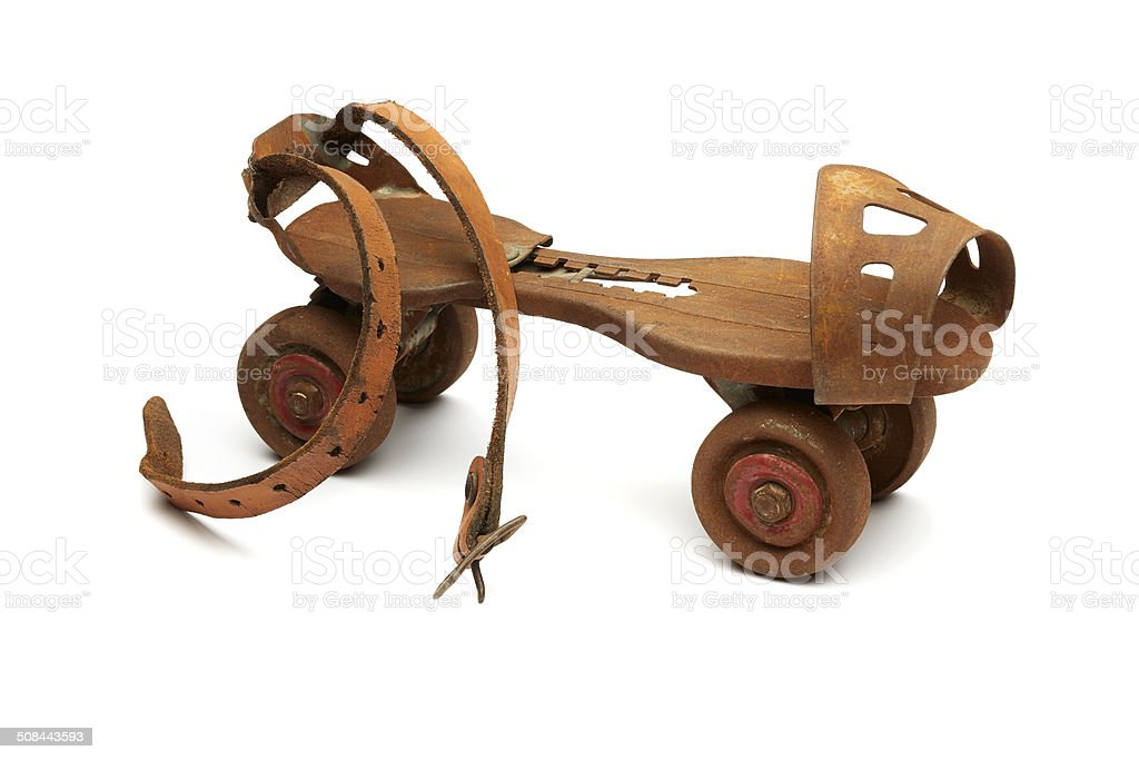 Rusty Roller Skate royalty-free stock photo