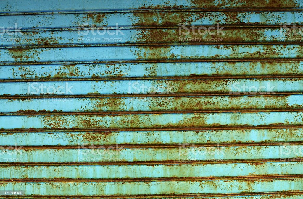 rusty  rolling shutter royalty-free stock photo