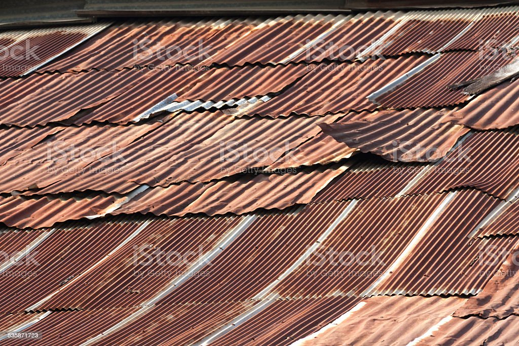 Rusty roof level royalty-free stock photo
