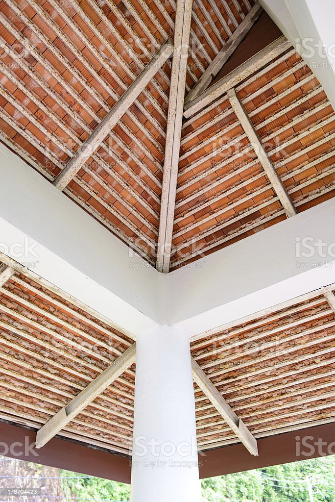 rusty roof structure stock photo