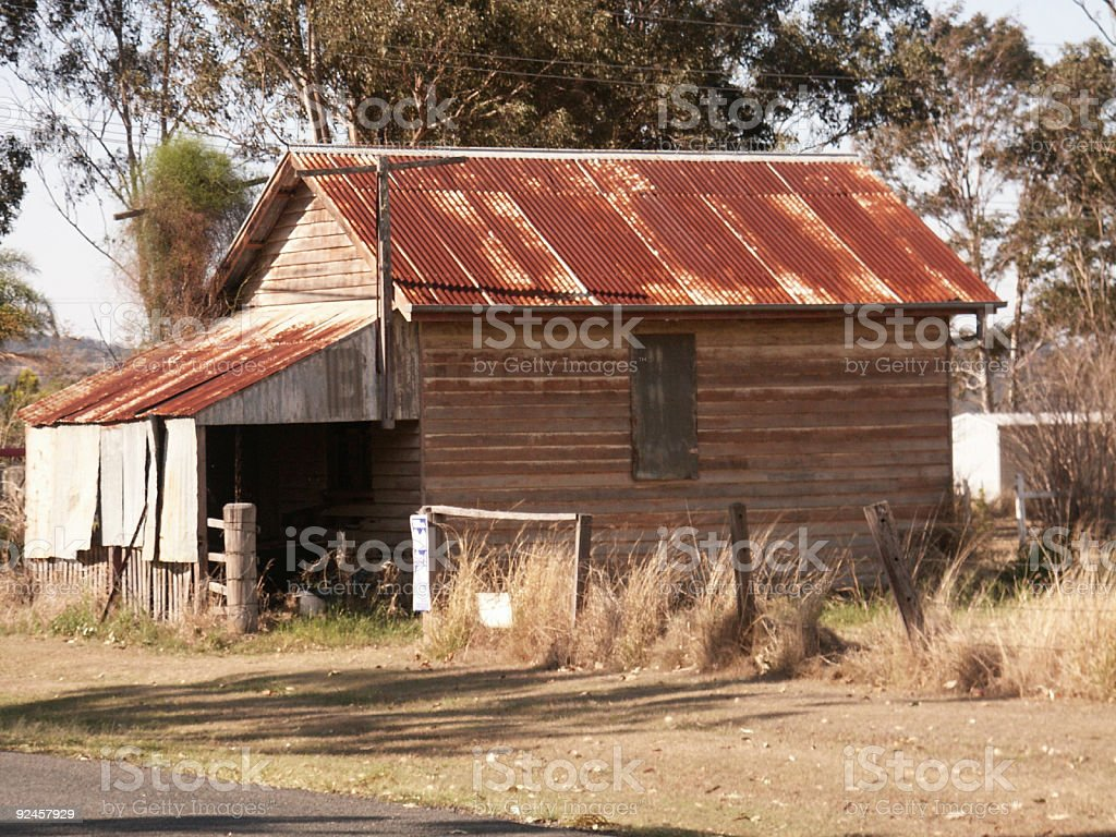 Rusty Roofed Old Shed stock photo