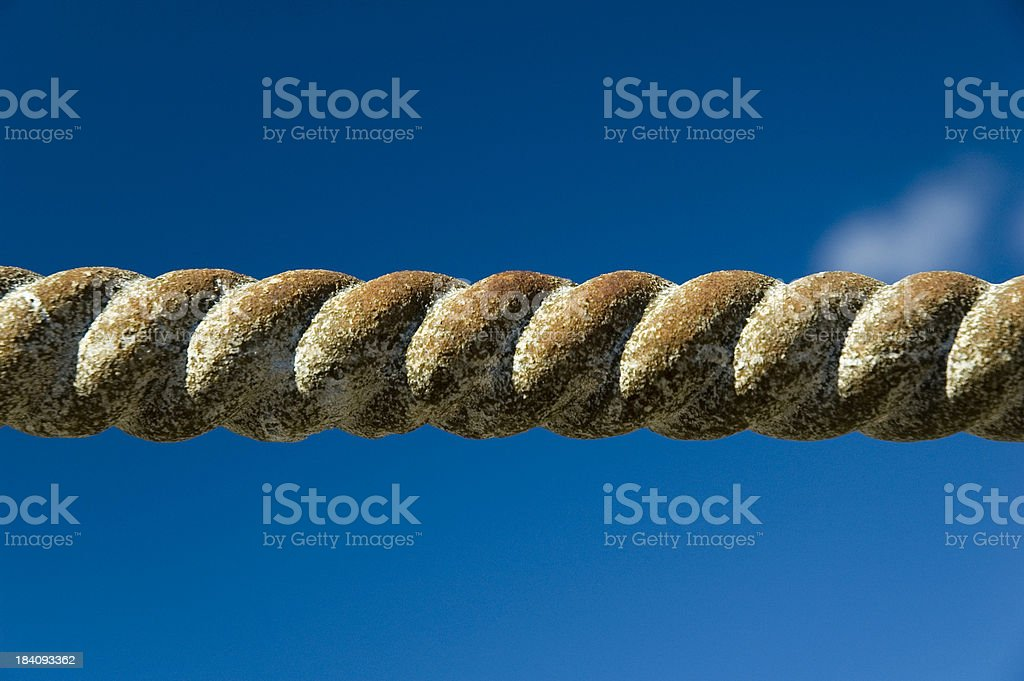 Rusty rope stock photo
