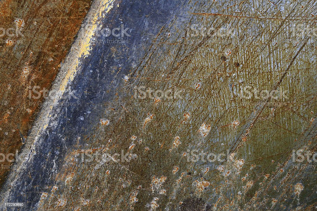 Rusty Scratched Metal Background royalty-free stock photo