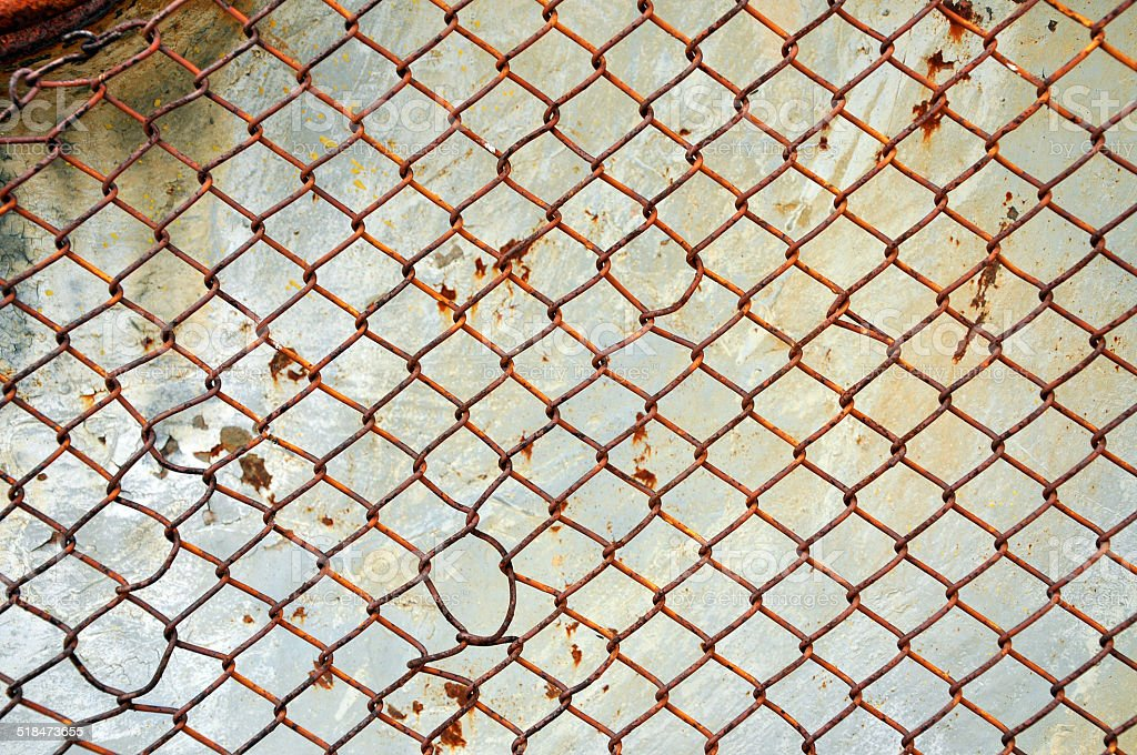 Rusty screen stock photo