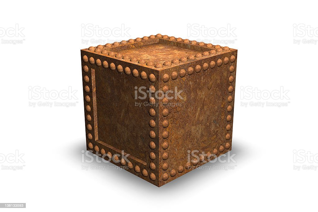 Rusty Security Container royalty-free stock vector art