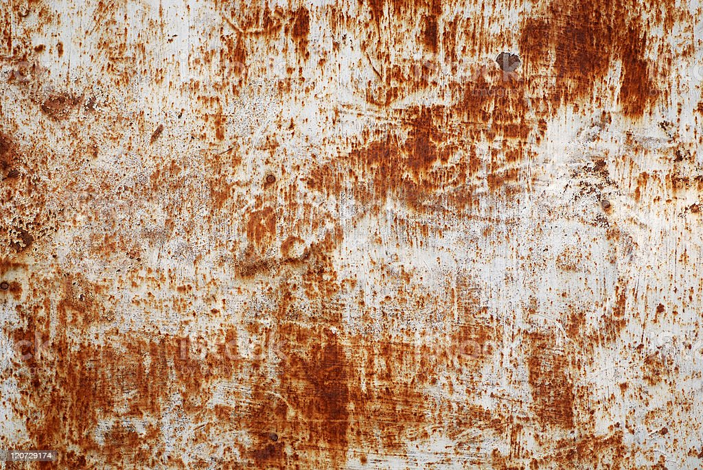 Rusty sheet metal royalty-free stock photo