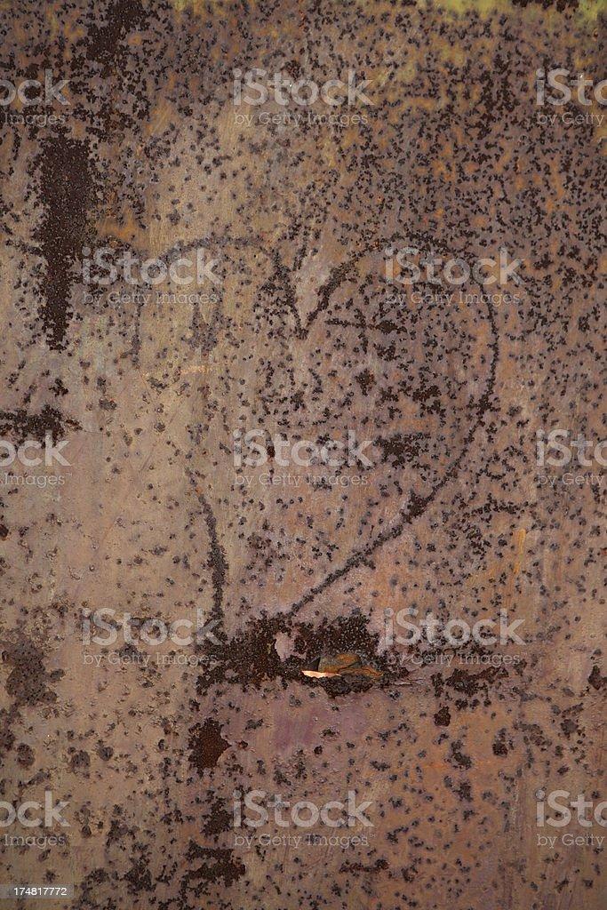 Rusty sheet metal royalty-free stock photo