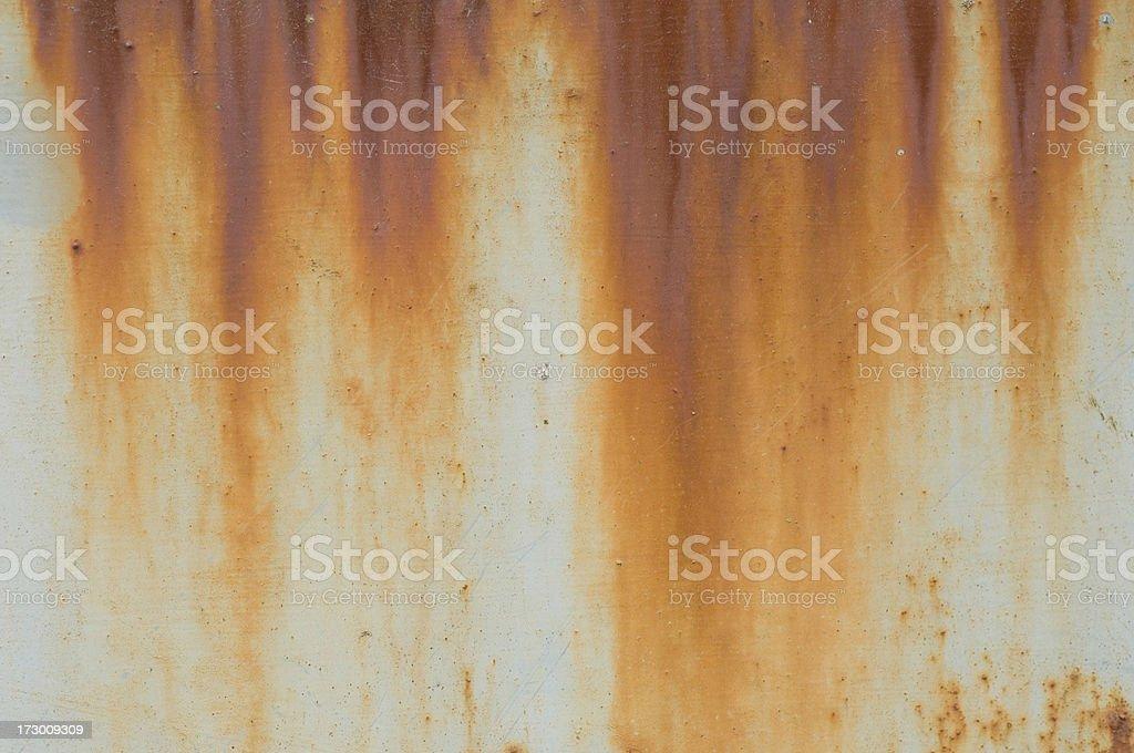 Rusty sheet of metal stock photo