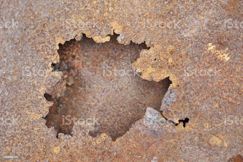 Rusty Sheeting Background royalty-free stock photo