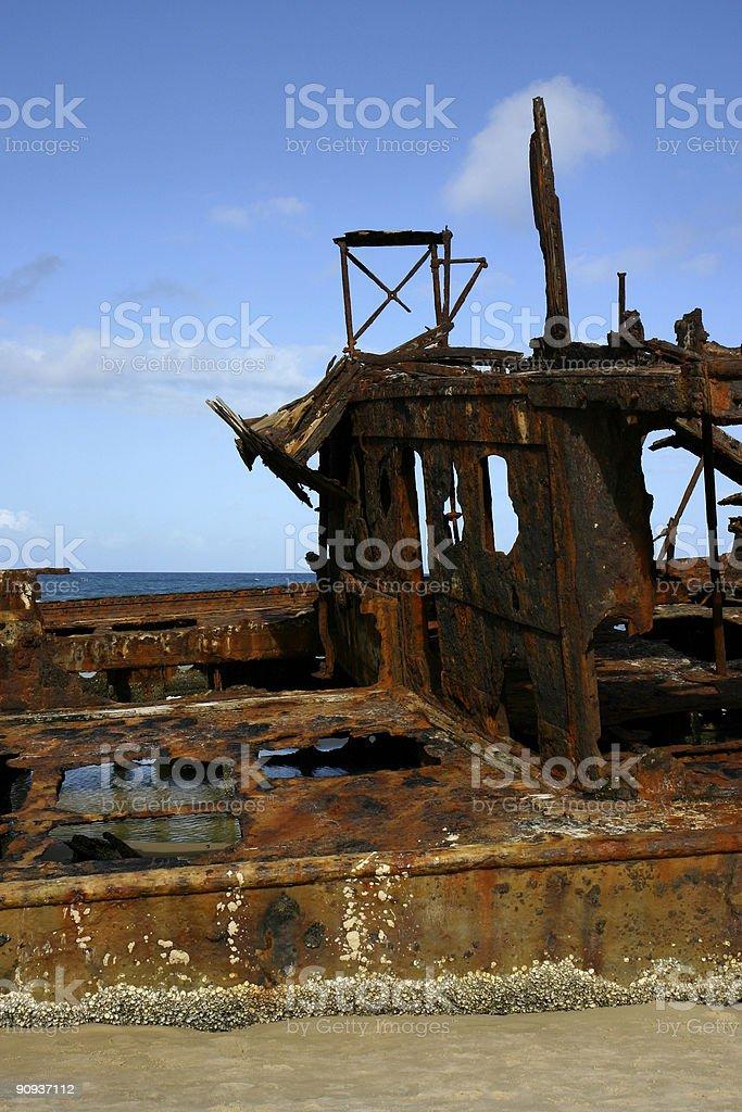 Rusty ship wreck stock photo
