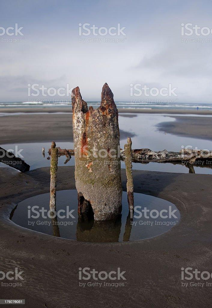 rusty shipwreck royalty-free stock photo