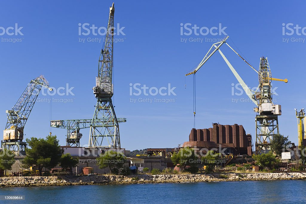 rusty shipyard royalty-free stock photo