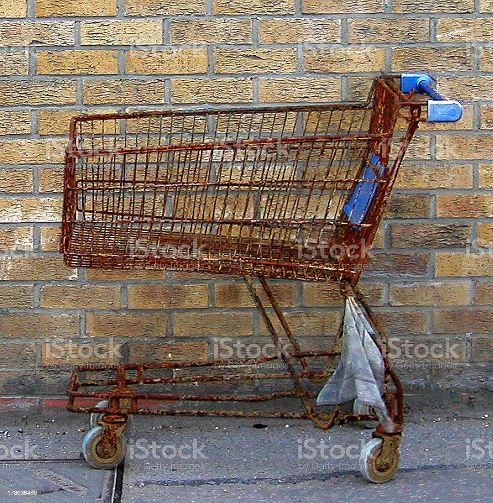 Rusty shopping trolley stock photo